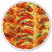 Food - Candy - Lollipops Round Beach Towel