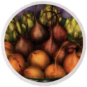 Food - The Harvest Round Beach Towel