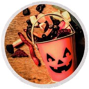 Food For The Little Halloween Spooks Round Beach Towel