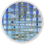 Foot Bridge Over Tempe Town Lake Abstract Round Beach Towel