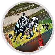 Football Derby Rams Against Nottingham Forest Red Dogs Round Beach Towel
