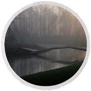 Footbridge Round Beach Towel