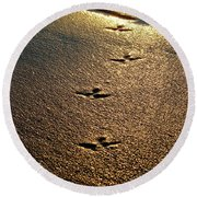 Footprints - Bird Round Beach Towel
