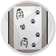Footprints- Friends Round Beach Towel