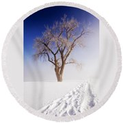 Footsteps Round Beach Towel