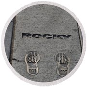 Footsteps - Rocky Round Beach Towel