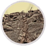 For Ever Watch At Devils Den Round Beach Towel by Tommy Anderson