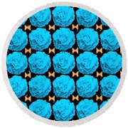 For Every Blue Rose There Is A Butterfly Round Beach Towel