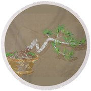 For Inge Round Beach Towel by Leah  Tomaino