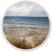 For Love Of The Sea Round Beach Towel