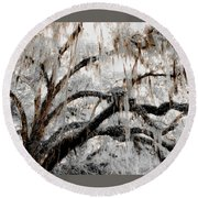 For The Grace Of The Beauty Of A Aged Tree Round Beach Towel
