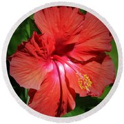 For The Love Of Hibiscus Round Beach Towel