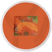For The Love Of Poppy Round Beach Towel
