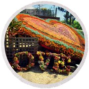 For The Love Of Succulents Round Beach Towel