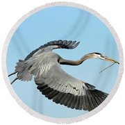 For The Nest Round Beach Towel
