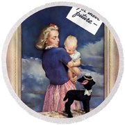 For Their Future Buy War Bonds Round Beach Towel