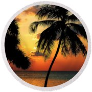 For You. Dream Comes True. Maldives Round Beach Towel by Jenny Rainbow