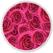 For You, For Love Round Beach Towel