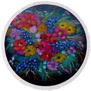 For You In Love Round Beach Towel