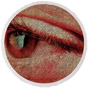 For Your Eyes Only Round Beach Towel