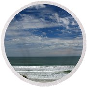 For Your Pleasure Round Beach Towel