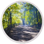 Forbidden Drive - Philadelphia Round Beach Towel