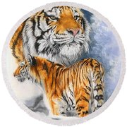 Forceful Round Beach Towel
