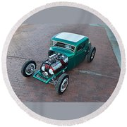Ford 5-window Coupe Round Beach Towel