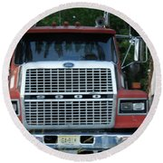 Ford 9000 Power And Confort... Round Beach Towel