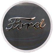 Ford Antique Auto Emblem Round Beach Towel
