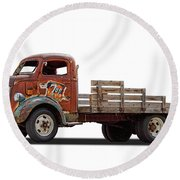 Ford Classic 7 Up Truck Round Beach Towel