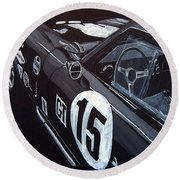 Ford Cobra Racing Coupe Round Beach Towel