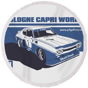 Ford Cologne Capri Works Round Beach Towel