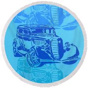 Ford Coupe 34 Round Beach Towel