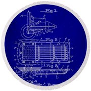 Ford Engine Lubricant Cooling Attachment Patent Drawing 1c Round Beach Towel