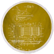 Ford Engine Lubricant Cooling Attachment Patent Drawing 1d Round Beach Towel