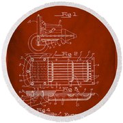 Ford Engine Lubricant Cooling Attachment Patent Drawing 1g Round Beach Towel