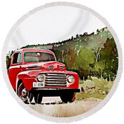 Ford F-1 Round Beach Towel