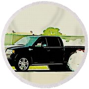 Ford F-150 Round Beach Towel