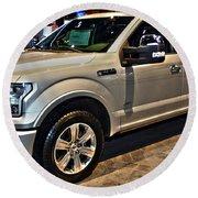 Ford F150 Fx4 Platinum Round Beach Towel
