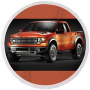Ford F150 Svt Raptor Round Beach Towel