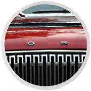 Ford Falcon Details Round Beach Towel
