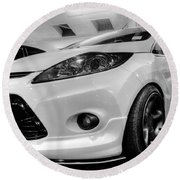 Ford Fiesta In Hdr Round Beach Towel