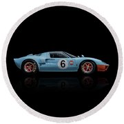 Ford Gt 40 Round Beach Towel