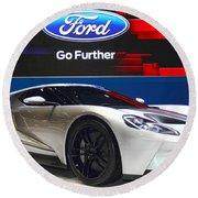Ford Gt Round Beach Towel