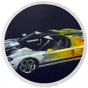 Ford Gt Concept Round Beach Towel