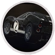 Ford Gt40 Racing Round Beach Towel