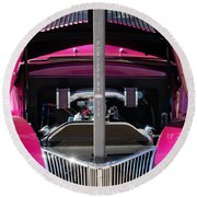 Ford Hot Rod Grille Round Beach Towel