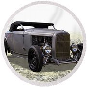 Ford Hot Rod Roadster Round Beach Towel