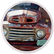 Ford In Goodland Round Beach Towel